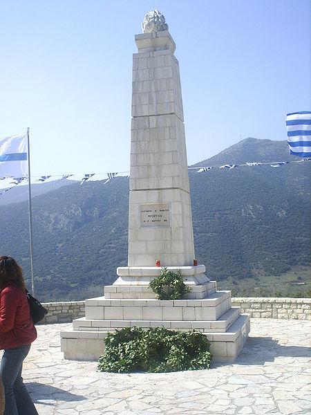 The Froxylias monument in Tourlada Kleitoria