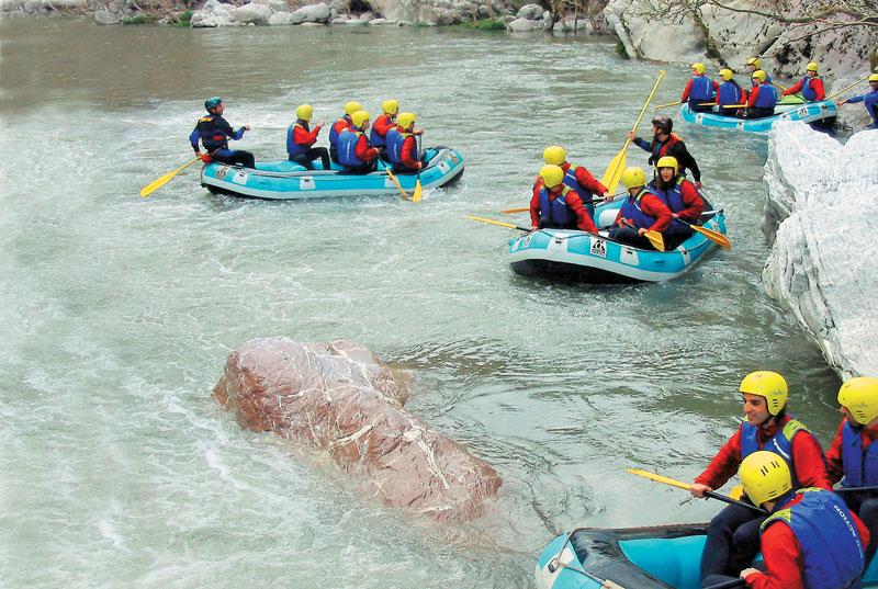Rafting and kayaking in Ladon
