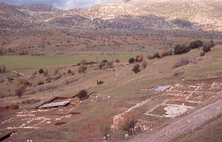 The outline of the Temple of Artemis
