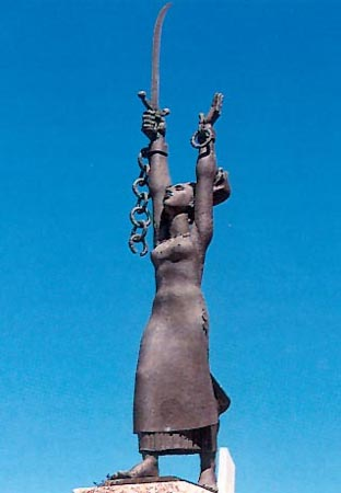 The Statue of Liberty in Chelonospilia of Likouria